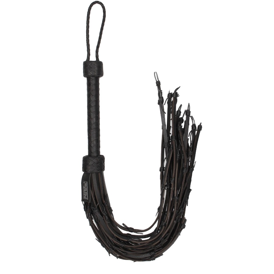 Image of Barbed Leather Wire Flogger